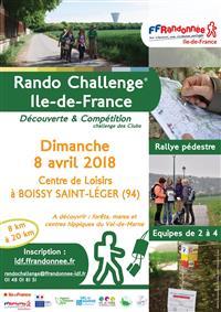 ILE-DE-FRANCE : RANDO CHALLENGE REGIONAL